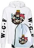 CLOTHING Felpa con Cappuccio Sacca Sportiva con Team WGF Lyon Logo (12-14 Anni, Bianco Team WGF V.3)