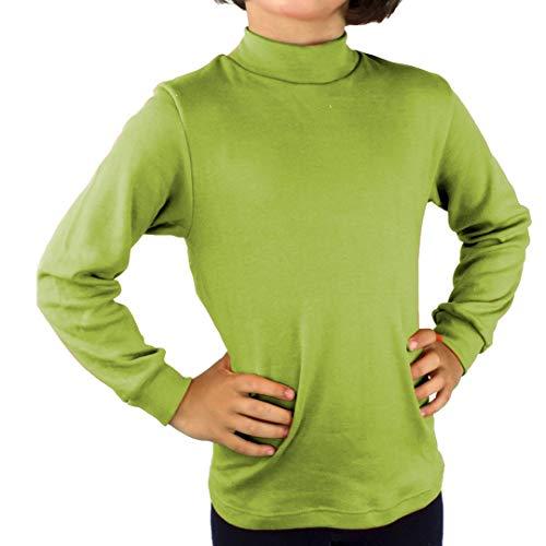 KLOTTZ - Camiseta Carnaval Manga Larga niños Fabio Halloween. Polo Cuello semicisne e Interior Afelpado. Niñas Color: Pistacho Talla: 4