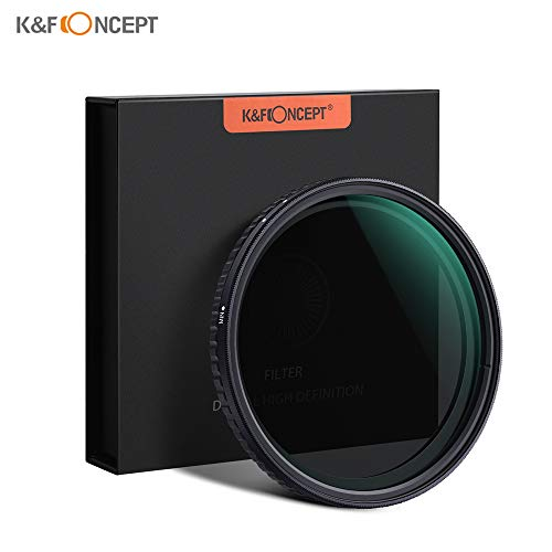 TOPTOO K & F CONCEPT 72 millimetri Fader ND2-ND32 per filtro ottico a fessura neutra variabile regolabile ultrasottile per fotocamere Nikon Canon Sony