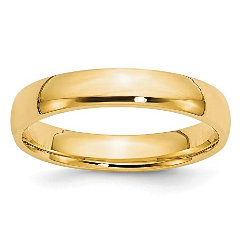 14k Yellow Gold 4mm Comfort Fit Wedding Ring Band Size 7 Classic Fine Jewelry For Women Gifts For Her