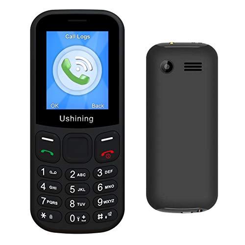 Ushining 3G Basic Mobile Phones Unlocked Big Icon Large Volume Senior Feature Phone Easy to Use Cell Phone (Black)
