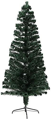 Albero di Natale Slim 6/7 / 8FT LED. Decorazioni per la casa di Natale dell'albero di Natale dell'albero di Natale della fibra ottica, fibre pre-illuminate Baubles di Natale (verde) LQHZWYC