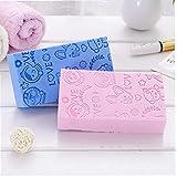 Case&Cover 1 Pieza Impreso de Alta Densidad para Adultos Esponja Exfoliante Suave Esponja de baño de Limpieza del depurador de Cuerpo Espuma de Ducha Puff