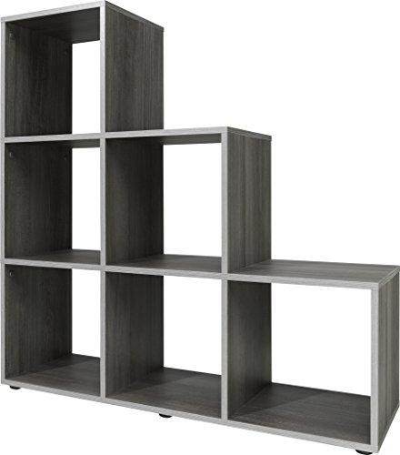 Stufenregal, Holz, silbereiche, 32 x 105 x 106 cm
