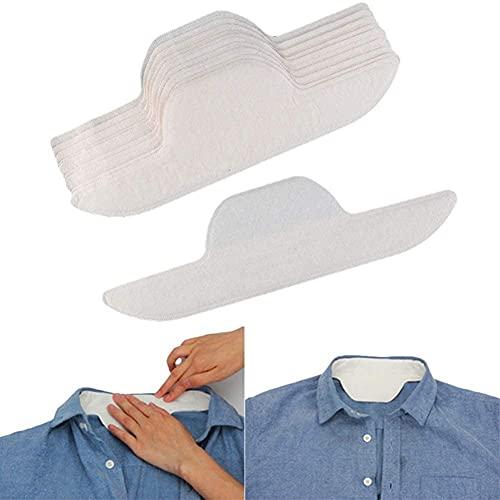 10PCS Pegatinas anti-sudor,almohadillas de sudor de la Collar adhesivo fuerte los hombres y mujeres,es suave absorbente,protectores desechables plegables de absorción para mujeres hombres Camisas