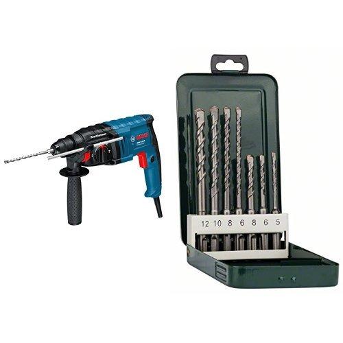 Bosch GBH 2-20 D - Martillo perforador (2.3 kg, 2.3 kg) + SDS-plus S2 - Juego de bs de martillos perforadores SDS-plus de 7 piezas