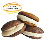 CLASSIC HOMEMADE STYLE WHOOPIE PIES VARIETY PACK or gobs as they are known in Western Pennsylvania. Delivery from Maine to California and everywhere in between. 2 PIECES OF DELICIOUS CHOCOLATE CAKE with sweet fluffy white cream icing in between the c...