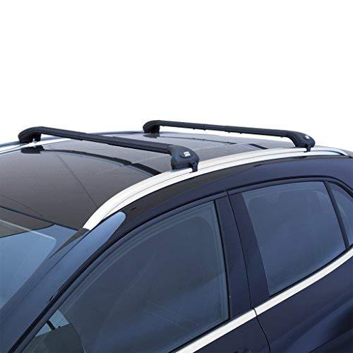 Fabbri AW69/3008 - Barras portaequipajes integradas negras para coche a partir de 2016