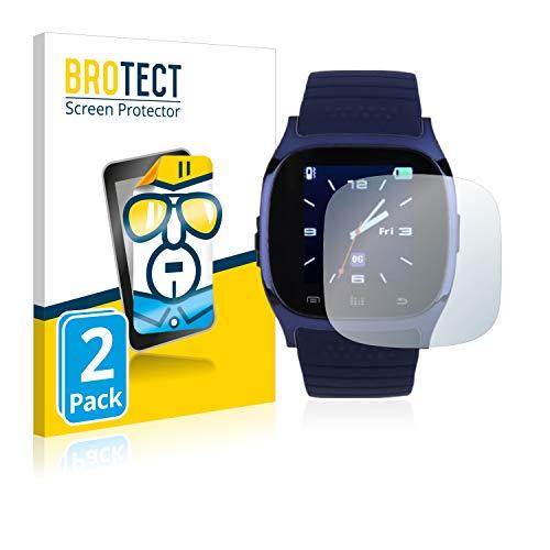 2X BROTECT HD Clear Displayschutz Schutzfolie für RWatch M26 T8 (Kristallklar, extrem Kratzfest, schmutzabweisend)