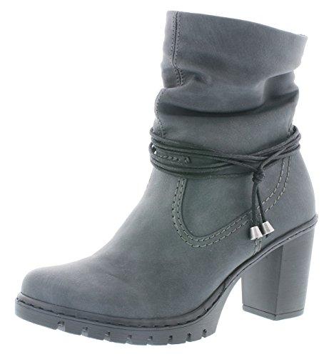Rieker Damen Klassische Stiefel Y2591,Frauen Boots,Schlüpf-Stiefel,Slip-On-Boot,Trichterabsatz...