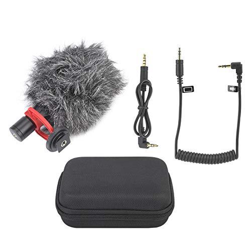 DAUERHAFT con Cubierta de Parabrisas micrófono de Condensador de Montaje a Prueba de Golpes Micrófono de cámara para Tableta para teléfonos Inteligentes para cámara DSLR