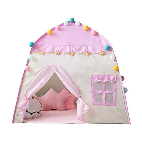 Kids Play Tent Pink Girls Princess Tent Portable Foldable Pop Up Tent Playhouse Kids Girls Boys Children Outdoor and Indoor Games for 3-4 Child 130 x 100cm (Color : -)