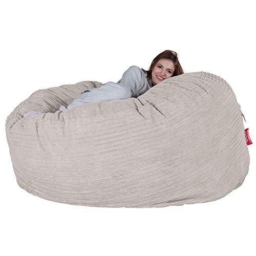 Lounge Pug®, Riesen Sitzsack Sofa C1000-L, CloudSac Latexflocken-Mischung, Schlafsofa, Cord Creme