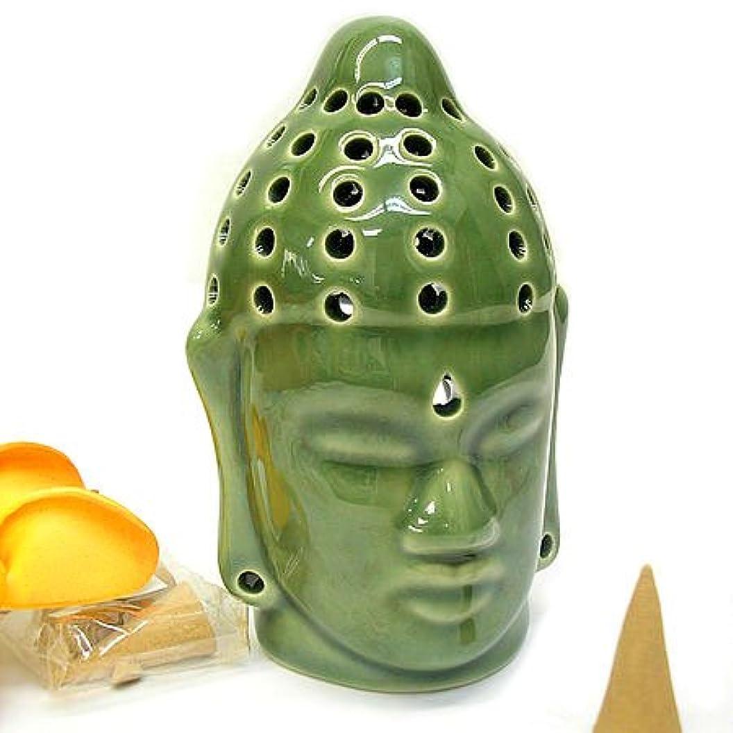 一緒妻トラクター仏陀の お香たて 香炉 コーン用 緑 インセンスホルダー コーン用 お香立て お香たて アジアン雑貨 バリ雑貨