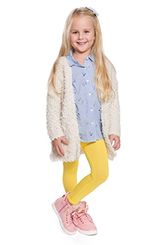 hi!mom CHILD28 - Leggings térmicos para niños - Algodón - Amarillo - Talla 3-4 años