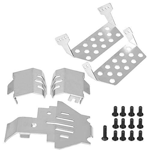 SANON Placa de Deslizamiento de Protección del Blindaje del Chasis de Acero Inoxidable del Coche para Traxxas-Trx4 82056-4 RC 5 Piezas