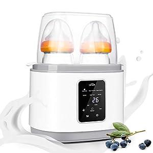 SIMBR Calienta Biberones para 2 Botellas Calentador de alimentos para Bebé con Multifunción 6 en 1 Esterilizador Eléctrico y Digital 270w Libre de BPA
