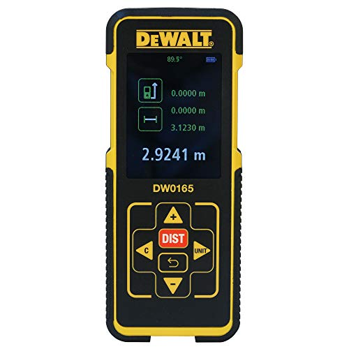 DEWALT Digital Electronic Bright LED Laser Distance Tape Measurer Device | 165-Feet ft For Maximum Coverage | Single-distance Measurement/ Continuous Measurement/ Area