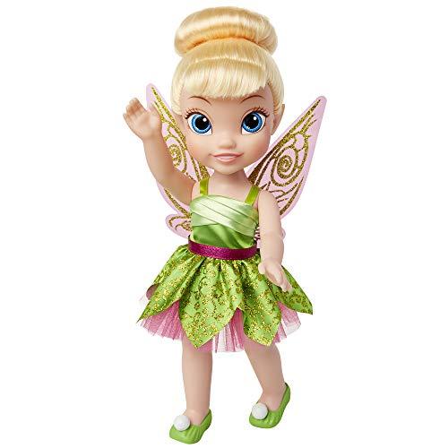 Jakks 84774 - Disney Fairies Tinkerbell, Puppe ca. 35 cm groß, beweglich, mit wunderschönem Kleid und Royal Reflection Augen, für Kinder ab 3 Jahre