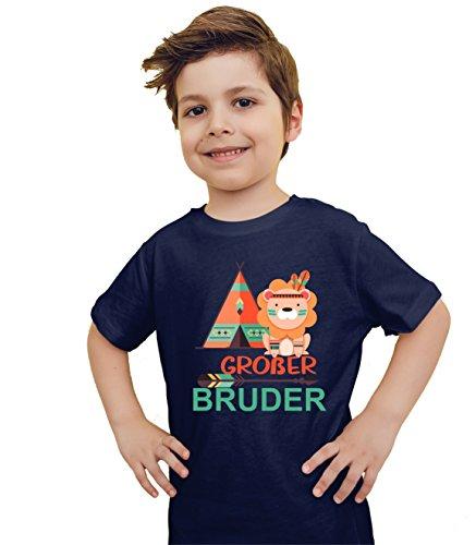 wolga-kreativ T-Shirt großer Bruder Indianer Löwe dunkelblau (86-94)…