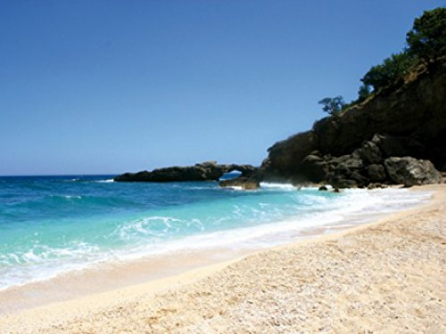 Beaches Poster Photo Wallpaper - Sardinia, Deep Blue Sky And Turqoise Sea, 2 Parts (95 x 71 inches)