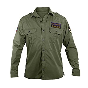 NFL Baltimore Ravens Men's Military Field Shirt, Large