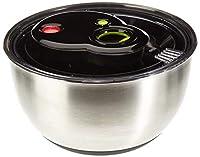 emsa turboline centrifuga insalata 4.5 l, acciaio inossidabile, acciaio inox/nero, , 1 unità