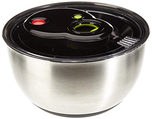 Emsa 513441 Turboline Salad Spinner, Medium, Silver