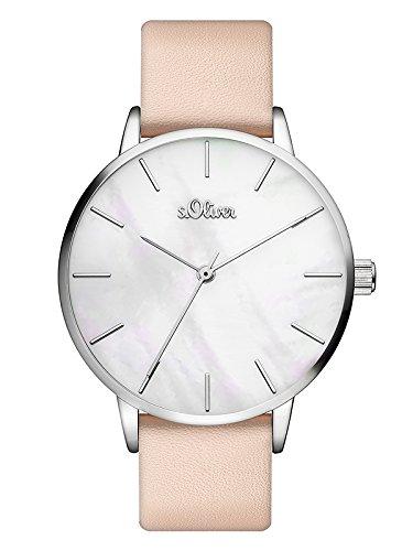 s.Oliver Damen Analog Quarz Armbanduhr mit PU Armband SO-3547-LQ