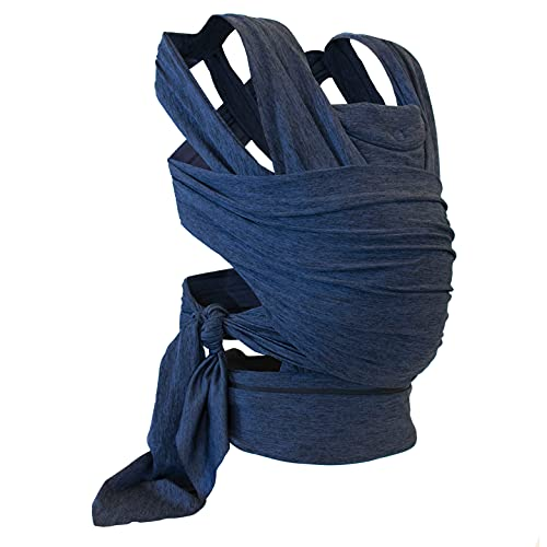Boppy ComfyFit Mochila portabebé para un porteo natural, color azul