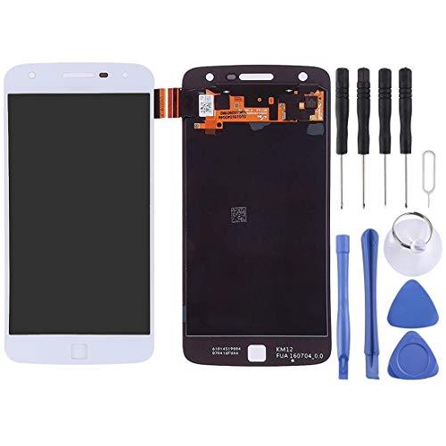 Dmtrab per Schermo LCD + Pannello tattile per Motorola Moto Z Play Parti del Telefono Cellulare. (Color : White)