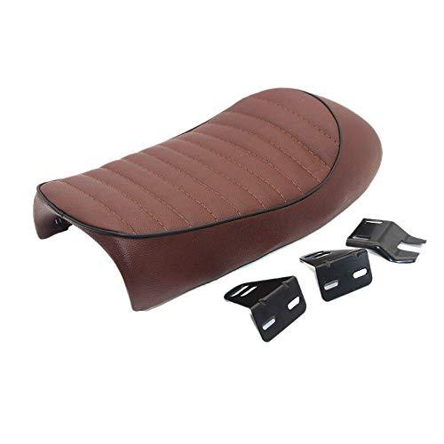 Motorcycle Retro Cafe Racer Seat Saddle Flat Pan Brat Seat Vintage Scramble For Cg125 Cb350 Cb400 Cb500 Cb750 Sr400 Xj Xs Pu L