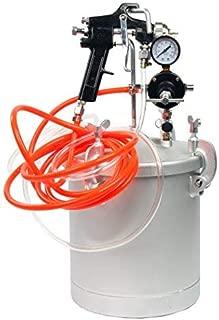 2 1/2 Gallon 10L High Pressure Pot Air Paint Spray Gun, Pressure Tank with Spray Gun and 13-Feet Dual Hose Industrial Painting Painter