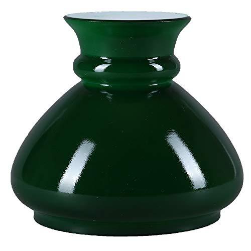Lampenglas Ø 106mm Ersatzglas Grün rund Petroleumlampe Glas Schirm Leuchtenglas Lampenschirm