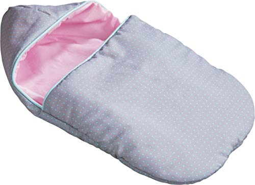 HABA 305134 - Puppen-Schlafsack Kuscheltraum, Puppenzubehör für Stoff- und Babypuppen, Schlafsack zum Wenden mit Klettverschlüssen, Spielzeug ab 18 Monaten