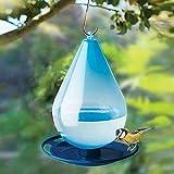 HUANGA Bebedero automático de pájaros en Forma de Gota de Agua fácil de Colgar Bebedero de pájaros de plástico con Gancho dispensador de pájaros Salvajes extraíble para decoración de jardín