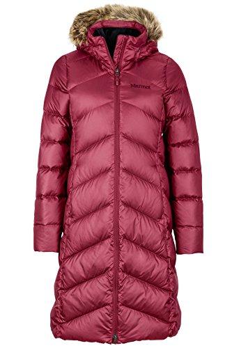 Marmot Montreaux Women's Full-Length Down Puffer Coat, Fill Power 700, Berry Wine, Small