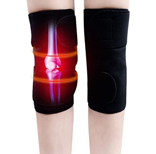 1 Paar (2 Stück) Magnettherapie Knie Bandage, schwarz, Klettverschluss,