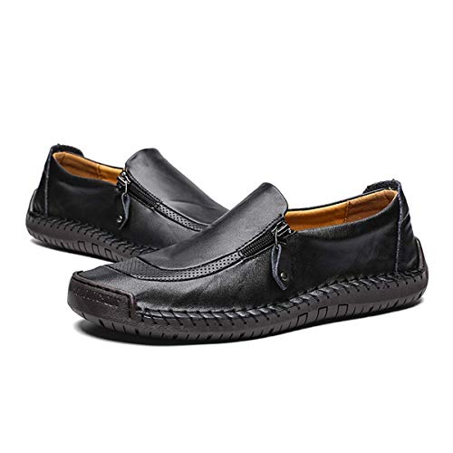 Ceyue brand men flats driving comfortable soft lightweight breathable men loafers-grey-8.5