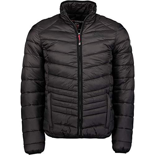 Geographical Norway DAMIEL MEN - Chaqueta Acolchada Para Hombre - Abrigo Cálido De Invierno - Cazadora Manga Larga Resistente Al Viento - Chaquetas Casual Jacket (Negro L)