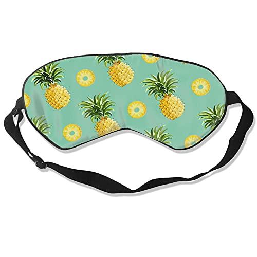 Gran regalo – Máscara de piña para dormir mejor máscara de ojos máscara de ojos para viajes siesta meditación, vendados con correa ajustable para hombres y mujeres