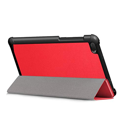 Kepuch Custer Hülle für Lenovo Tab E7 TB-7104F,Smart PU-Leder Hüllen Schutzhülle Tasche Hülle Cover für Lenovo Tab E7 TB-7104F - Rot