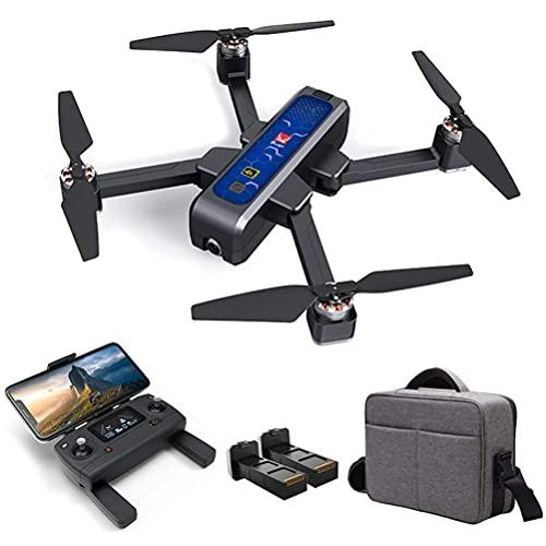 Drone GPS con videocamera HD 4K, drone pieghevole per adulti, motore brushless quadricottero RC, trasmissione Wi-Fi 5G video in diretta, ritorno a una chiave, portata controllo 1600M, con scheda mem
