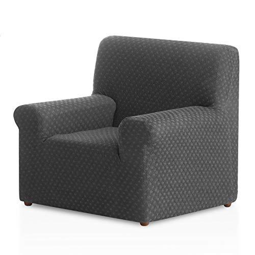 Bartali Funda de sillón elástica Olivia - Color Gris - Tamaño 1 Plaza (de 50 a 90 cm)