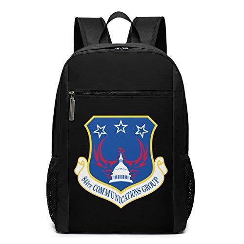 ZYWL US Air Force 844th Communications Group Sac à Dos pour Ordinateur Portable, Sacs à Dos de Voyage School College Bookbag pour Femmes et Hommes 17 Pouces