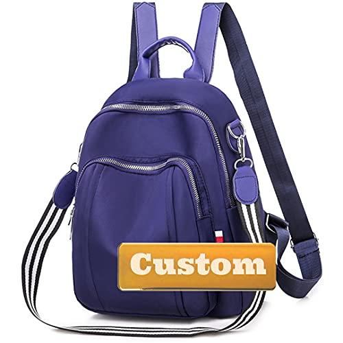 Nombre Personalizado Daypack Senderismo Durable Lightweight Mochila Nylon 20L Mini Chica Linda (Color : Blue, Size : One Size)