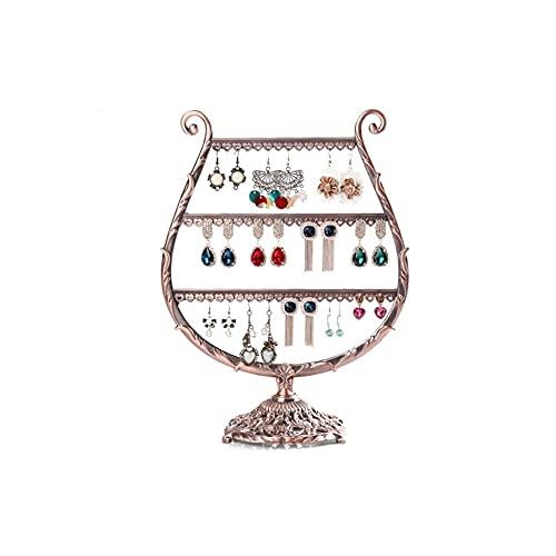 LICHUAN Soporte de exhibición de la aleación de la joyería Organizador de la joyería del metal estantes de almacenamiento de la joyería para el collar de los
