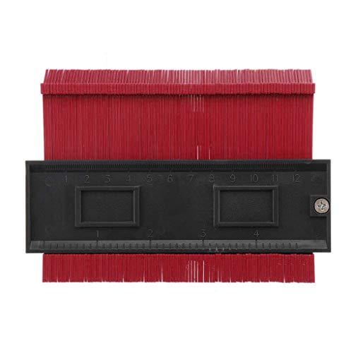 Transwen - Regla para medir los contornos de forma precisa (120 mm), Rojo