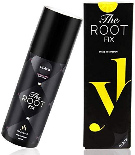 YoungHair The Root Fix Schwarz Haarfarbe-Spray Retoucher-Ansatzspray für graue Haare