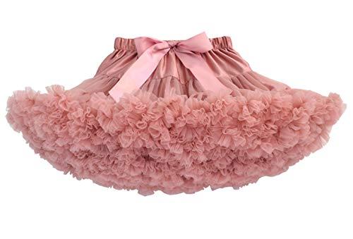 Happy cherry - Vestido de Tutú de Fiesta para Niñas Falda Corta de Tul Suave con Volantes para Danza de Ballet para Princesa Cosplay Partido para Bebés Niña de 3-4 Años - Rosado